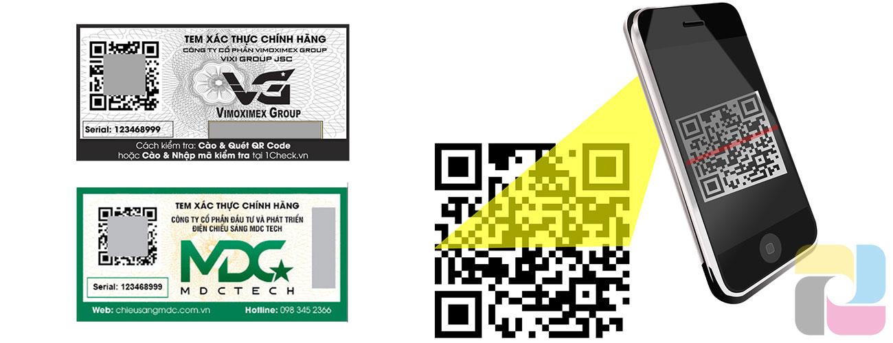 Tem chống giả mã hóa bằng QR Code